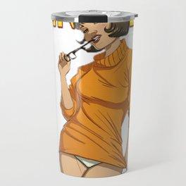 Cosplay Nerd pin up Travel Mug
