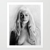 daenerys Art Prints featuring Stormborn by apostatemages