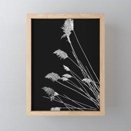 Dry Reeds on Black Framed Mini Art Print