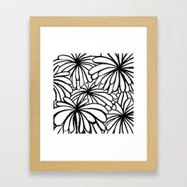 Inked flowers Framed Art Print