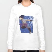 sasuke Long Sleeve T-shirts featuring Sasuke the Avenger by Michelle Rakar