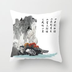 The spring of Absolute Valley Throw Pillow