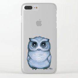 """""""The Little Owl"""" by Amber Marine ~ (Blueberry Version) Graphite & Ink Illustration, (Copyright 2016) Clear iPhone Case"""