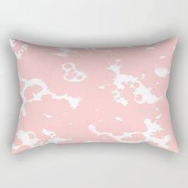 Rosequartz -marble pantone color art print decor minimal pastel pink girly hipster marbled   Rectangular Pillow