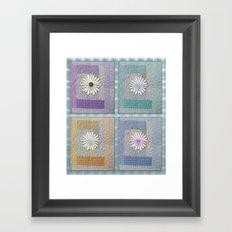 Flower Quilt Framed Art Print