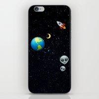 emoji iPhone & iPod Skins featuring Space Emoji by jajoão