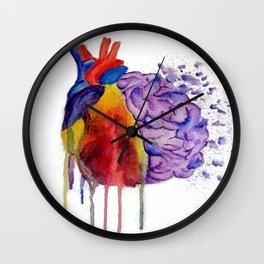 Heart vs. Mind Wall Clock