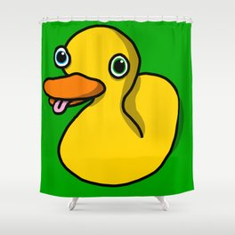 Drunk Duck | Veronica Nagorny Shower Curtain