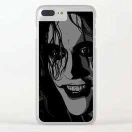 The Crow portrait (Brandon Lee) Clear iPhone Case