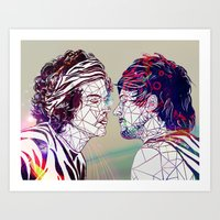 larry stylinson Art Prints featuring Geometric Larry by Peek At My Dreams