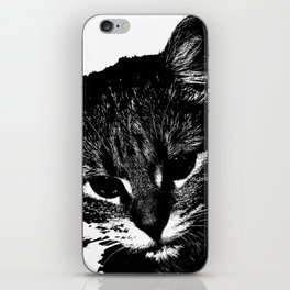 An injured cat walks your way, what do you do? iPhone Skin