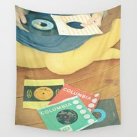 vinyl Wall Tapestries featuring Vinyl by Cassia Beck