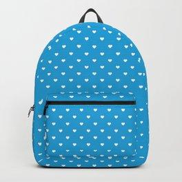 Mini White Love Hearts on  Oktoberfest Bavarian Blue Backpack