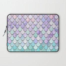 Mermaid Pastel Pink Purple Aqua Teal Laptop Sleeve