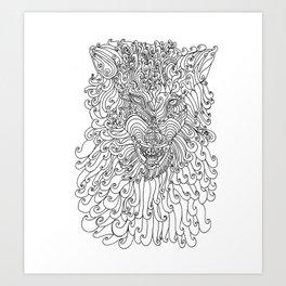 The Way of Wolf Art Print