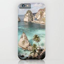 Tropical Ocean Beach Photo   Clear Blue Sea Palmtree Summer Print   Bali Coast Travel Photography iPhone Case