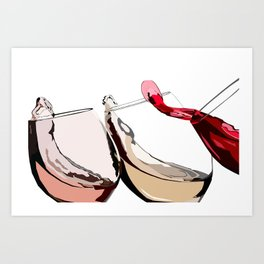 A Glass a Day... Art Print