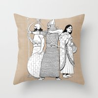 archer Throw Pillows featuring Archer by Tom Tierney Studios