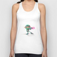 mega man Tank Tops featuring Mega Man Tribute by MrMaars