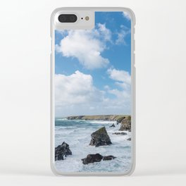 Bedruthan Steps Newquay Cornwall Clear iPhone Case