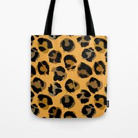 leopard Tote Bags featuring Leopard by Julia Badeeva