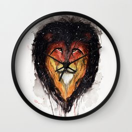 Fire Lion. Wall Clock