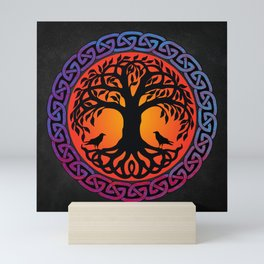 Viking Yggdrasil World Tree Mini Art Print