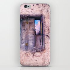 SOUL WINDOW - conceptual composing with old wall and open window iPhone Skin