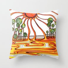 Liquid Star Throw Pillow