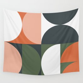 Mid Century Geometric 15 Wall Tapestry