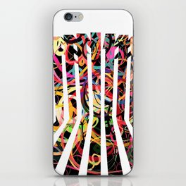 Graphic design six by Leslie Harlow iPhone Skin