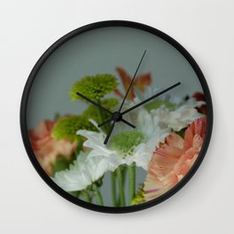 Nature's Bouquet Wall Clock