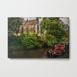 Church By The Oxford Canal Metal Print