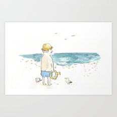 The old boy and the sea Art Print