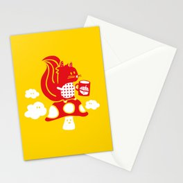 Squirrel teatime Stationery Cards