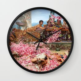 Lawrence Alma-Tadema - The Roses Of Heliogabalus - Digital Remastered Edition Wall Clock