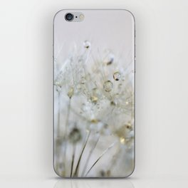 Gold and Silver Dandelion iPhone Skin