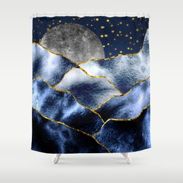 Full moon II Shower Curtain