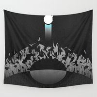 return Wall Tapestries featuring Return by Ed Burczyk