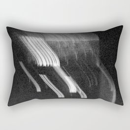 Being at the Drive-In B/W Rectangular Pillow