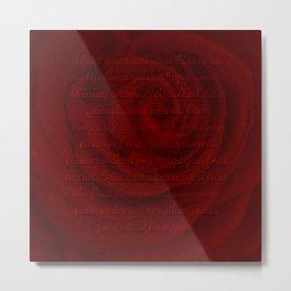 Love Letter Rose Metal Print