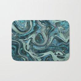 Magic Marble Gemstone Turquoise Teal Bath Mat