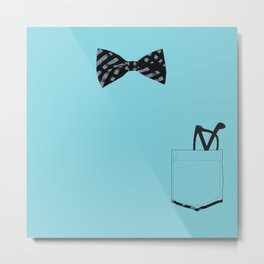 Bow tie and pocket Metal Print