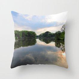 Evening On The Avon River, Stratford, Ontario Throw Pillow