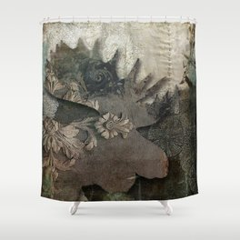 Gothic Forest Moose Shower Curtain