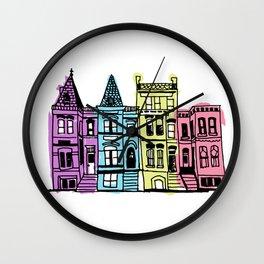 DC Houses Wall Clock