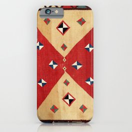 Qashqa'i  Antique Fars Persian Kilim Print iPhone Case