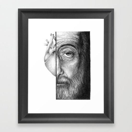 now that I'm older, my heart's colder... Framed Art Print
