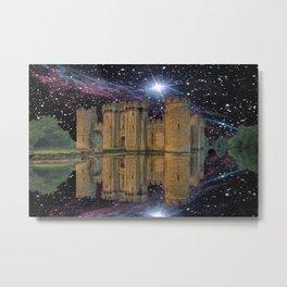 Bodiam in Space Metal Print