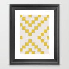 Tiles - in Dandelion Framed Art Print
